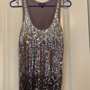 Express sequin tank top size XS!